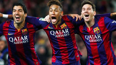 barcelona time messi neymar and suarez barcelona attack is out of this