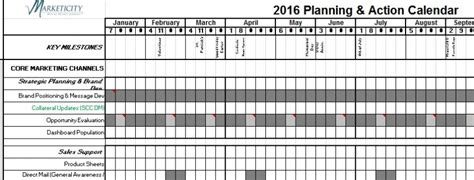 Planning Calendars Archives Marketicity Brand Calendar Template