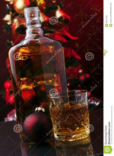 whiskey  christmas tree stock photo image  festive