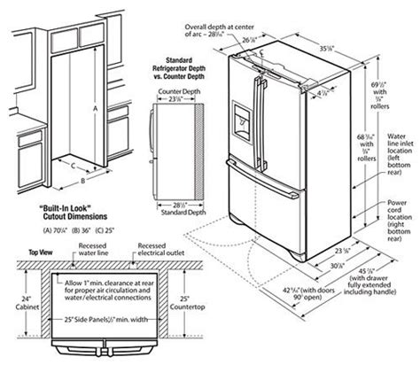 15 best ideas about refrigerator dimensions on