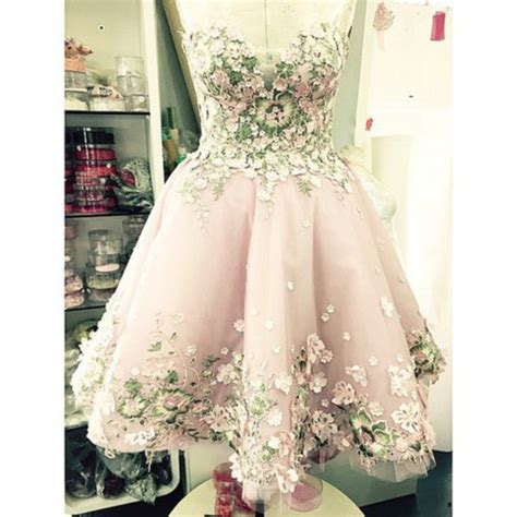 dress pink flowers green tale floral tutu