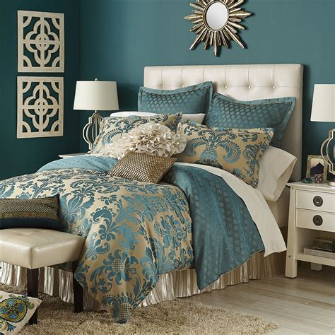 gold and teal bedding calibri jacquard bedding duvet teal from pier 1 imports