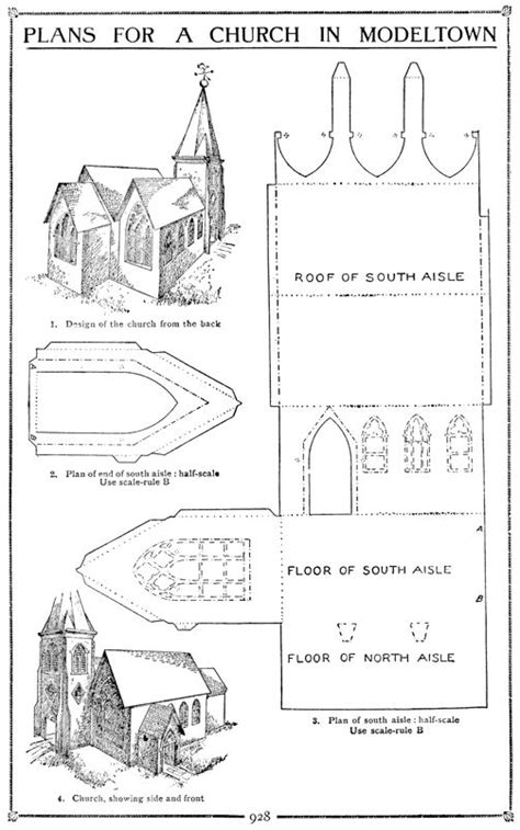 Paper Church Template best photos of cardboard church template free paper
