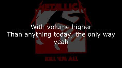 metallica hit the lights lyrics metallica hit the lights lyrics hd youtube