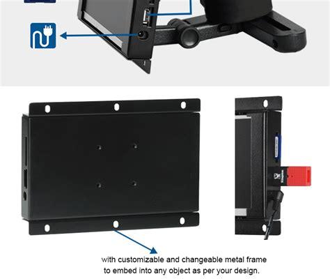 monitor senza cornice monitor della struttura aperta a cristalli liquidi da 7