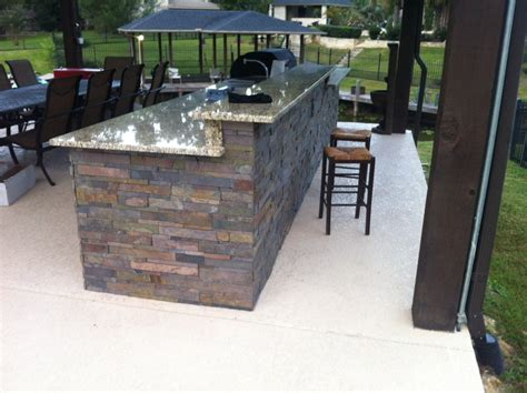 just about done with outdoor kitchen diy granite