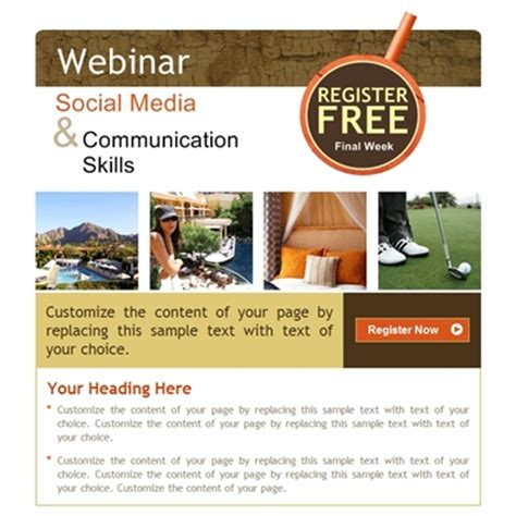 Professional Webinars And Events Facebook Fan Page Templates Fb Business Page Designs And Webinar Announcement Template