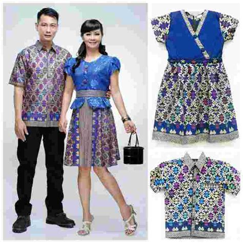 Family Set 5 Baju jual baju batik family set fashion