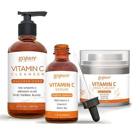 Serum Vitamin C Injeksi gopure vitamin c moisturizer vitamin c serum vitamin c cleanser set