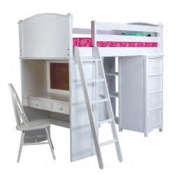 White Bunk Bed With Desk Home Design Furniture White Wooden Loft Bed With Ladder And Desk Plete Bunk Bed