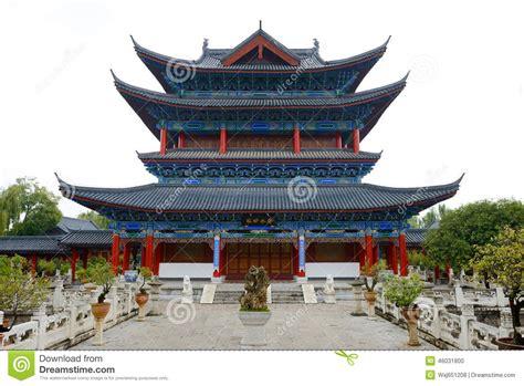 casa china casa de madeira de china yunnan foto de stock imagem de