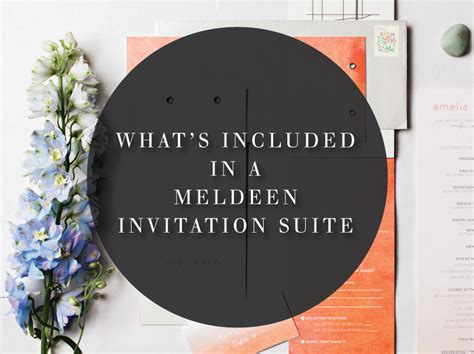 what s included what s included in a m 233 ldeen invitation suite meldeen