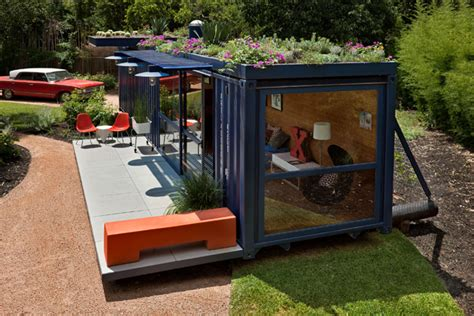 Shipping Crate Homes by Shipping Crate House With Rooftop Garden Modern House