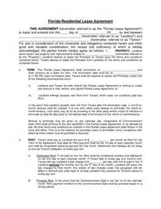 Florida Rental Lease Agreement Templates florida residential lease agreement legalforms org