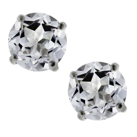 Sterling Silver Studs sterling silver white sapphire stud earrings boca raton