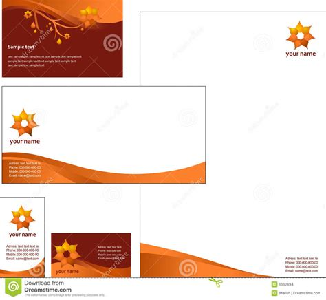 letterhead template design vector stock vector