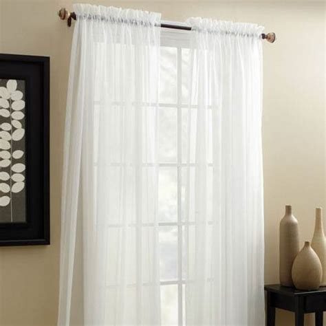 long sheer curtains croscill denise sheer curtain panel white 84 inches long