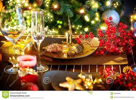 christmas holiday christmas holiday table setting royalty free stock images