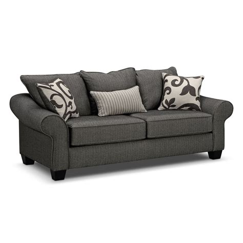 Gray Sofa Sleeper Colette Gray Sofa Value City Furniture