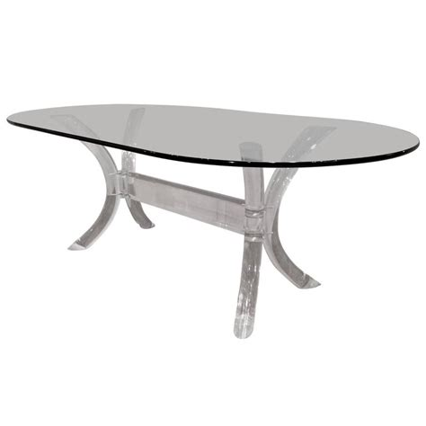 lucite dining tables lucite dining table with oval glass top by charles