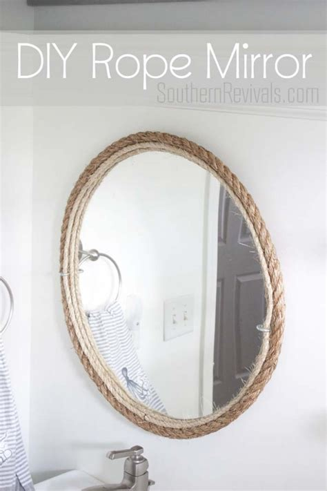 nautical bathroom mirrors diy rope mirror tutorial nautical style rope mirror and