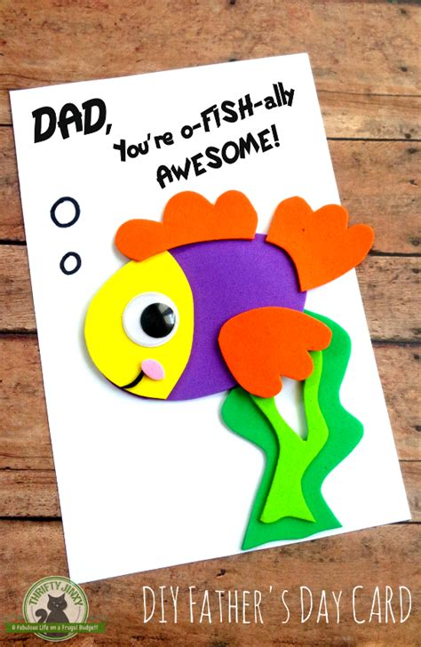 diy fathers day fish card  printable template   thrifty jinxy fathers day diy