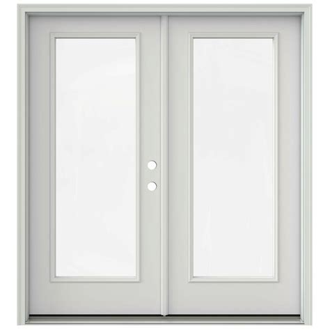 prehung interior french doors home depot jeld wen 72 in x 80 in primed prehung left hand inswing