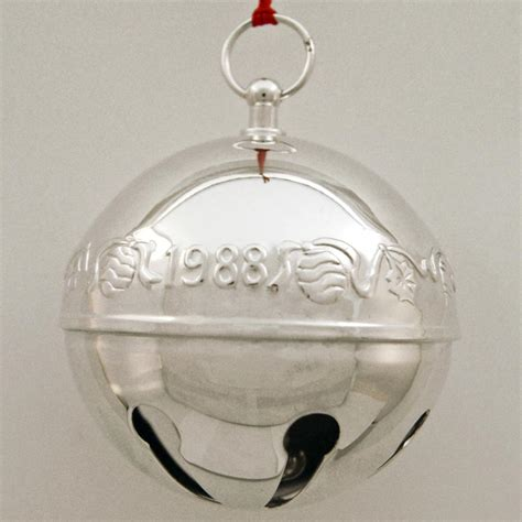 wallace silver bell 2018 1988 wallace sleigh bell silverplate ornament sterling collectables
