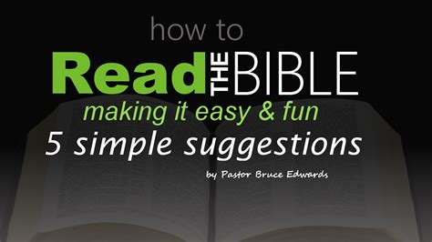 How To Read The Bible how to read the bible 5 simple suggestions to make easy