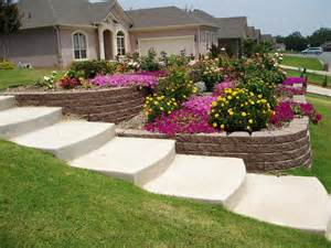 Small Sloped Backyard Ideas Landscaping Ideas For Backyard Hill Landscaping Gardening Ideas