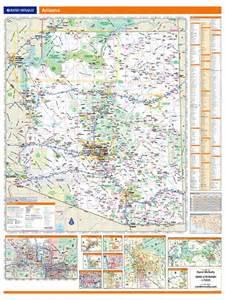 arizona road map with mileage rand mcnally arizona map one map place inc