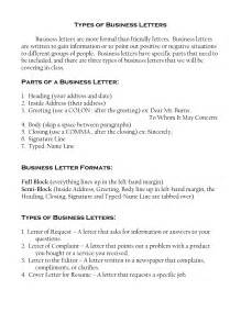 Business Letters Kinds types of letter writing formats best template collection
