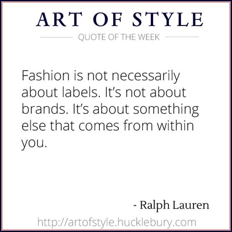Fashion Labels In Braille Its Not About How You Look But How You Feel by Fashion Is Not About Labels By Ralph Qotw