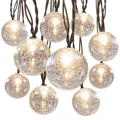 glass globe string lights hanging light string cracked glass