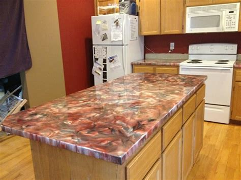 Make Your Own Resin Countertop by Metallic Epoxy Countertop Coating Using Leggari Products