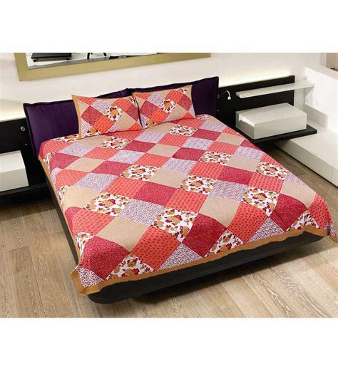 indian bed sheets grj india red floral double bed sheet by grj india online