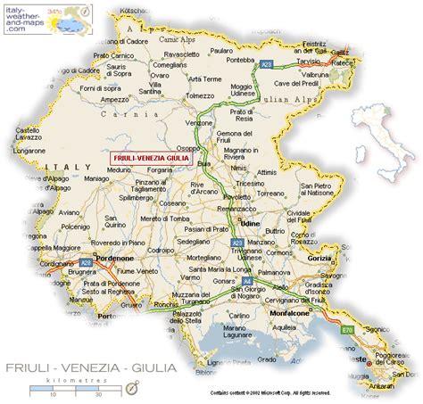 friuli venezia giulia mappa friuli venezia giulia regionale italia mappa