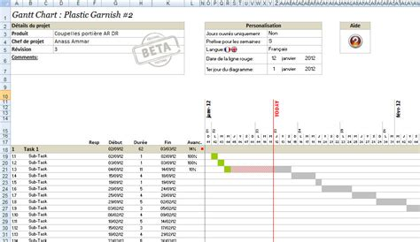 imprimer diagramme de gantt ms project 2010 screenshot gantt chart version 6 2