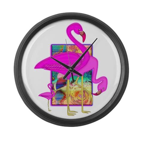 family of pink flamingos large wall clock by blakerobson