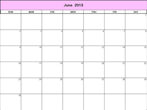 Calendar June 2013 Search Results For Blank 2013 June Calendar Page 2
