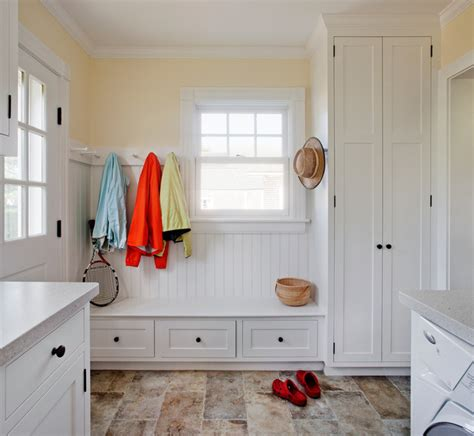 harbor view mudroom laundry room traditional laundry