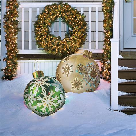 outdoor christmas ornaments massive fiber optic led outdoor christmas ornaments the