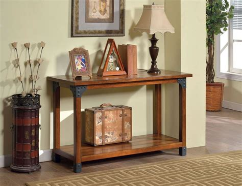 Oak Sofa Table by Bozeman Antique Oak Sofa Table From Furniture Of America