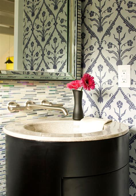 White Tile Bathroom Ideas Create A Smashing Powder Room Traditional Home