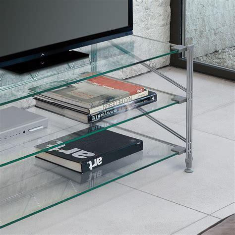 scaffali in vetro tilde scaffale porta tv in acciaio ripiani in vetro 100 x