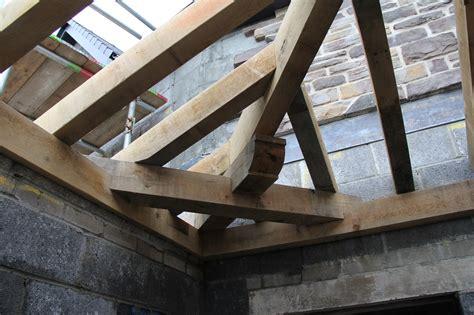 Garage Roof Truss Design swansea oak framed hipped roof by castle ring oak frame