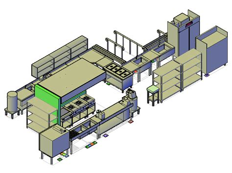 kitchen cad design 3d cad drawing of a commercial kitchen design