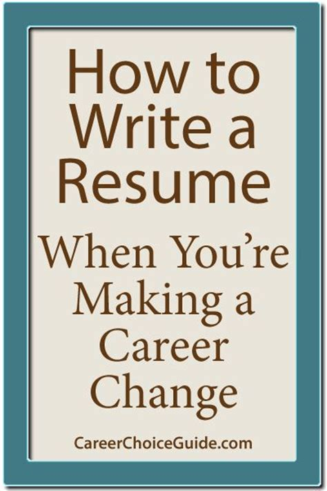 how to write a resume when switching careers 25 best ideas about make a resume on info