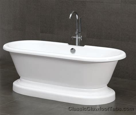 pedestal bathtub 70 quot acrylic double ended pedestal bathtub classic clawfoot tub