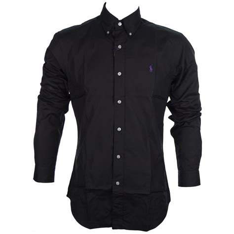slim fit black polo shirt